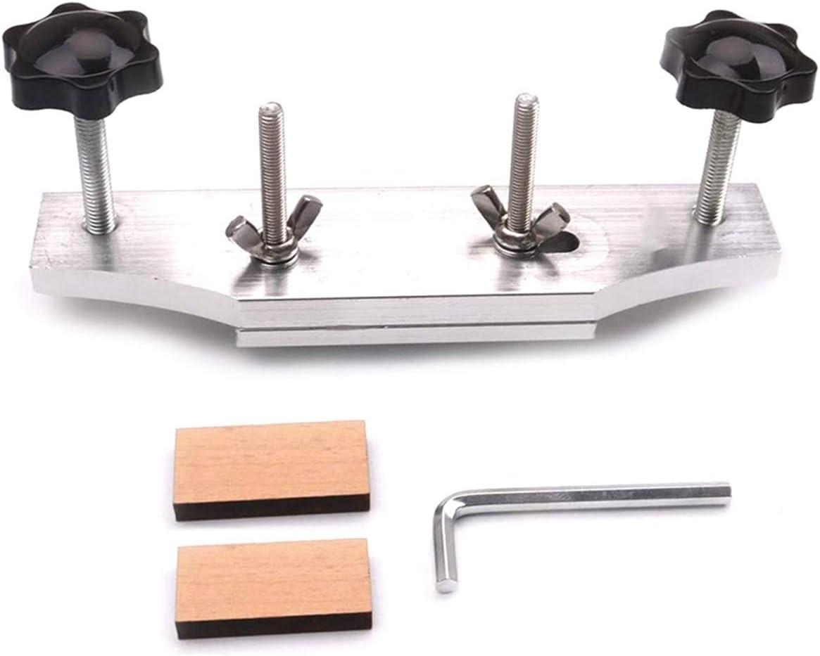 Alnicov Abrazadera de puente de guitarra, puente de guitarra de metal reemplazar abrazadera con llave en L para herramienta de reparación universal Luthier