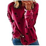 GFPGNDFHG Womens Fashion Tops Pullover All-Match Pom...