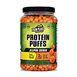 Jalapeno Cheddar(300g, 21g protein, 2g carb) by LLTC, Twin Peaks Low Carb, Keto Friendly Protein Puffs, Jalapeno LTC