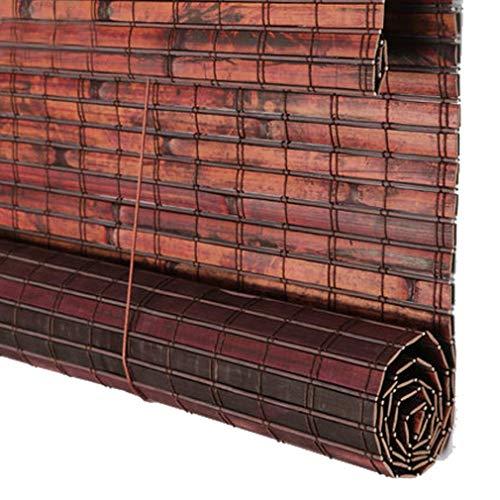 YJTGZ Persianas enrollables de bambú, persianas enrollables de bambú, persianas enrollables con Filtro de luz con Cenefa, para el balcón Interior en el Interior, persianas de bambú con Aislamiento