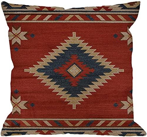 Mazu Homee Funda de almohada, funda de cojín de lino de algodón cuadrado estándar para hombres y mujeres, decoración del hogar, 45,7 x 45,7 cm