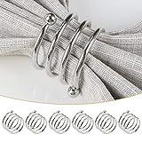 COCHIE Serviettenringe Silber,Metall serviettenring Serviettenschnallen Blume für Hochzeitsfeier Abendessen Jubiläum Tischdekoration tischdekoration 6 Stück