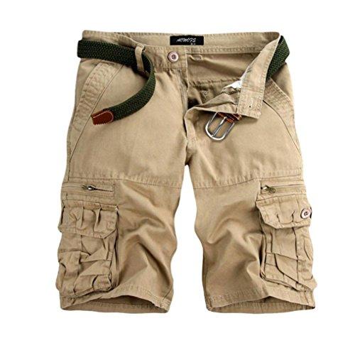 OSYARD Herren body bluse plain shorts beige die
