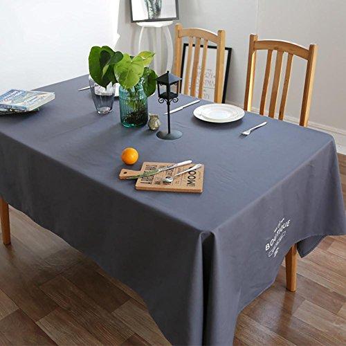 Plain rechthoekige stof tafelkleed Engels Letter tafelkleed voor familie Eettafel, Koffietafel, Hotel Restaurant 140 * 220cm marineblauw