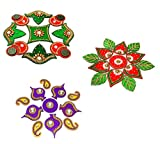 Moira Acrylic Rangoli (11-inch) Set of 3 Small Size