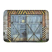 PATINISA バスマット、古い木製のドアの背景、マット滑り止め ソフトタッチ 丸洗い 洗濯 台所 脱衣場 キッチン 玄関やわらかマット 45x 75cm