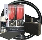 Leather Fresh - Kit ritocco vernice Volante in Pelle Eco-pelle rigenera usura interni - ripristina colore tonalità Nero generico satinato da 30 ml, semplice applicazione