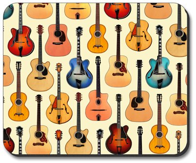 Guitars - Acoustic - Art Plates Brand Mouse Pad - Image by Dan Morris