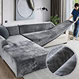 Love House Velvet Plüsch Schonbezug Sofa, Stretch Sofa