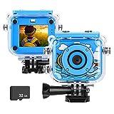 MYPIN Kids Waterproof Camera, Digital Underwater Action Camera for Kids 3-13 Years Old