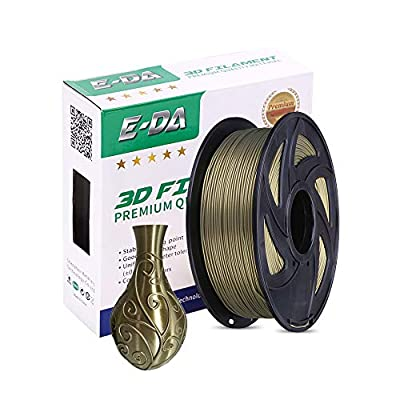 E-DA PLA+ Silk Filament 1.75mm 1Kg,Silk PLA 3D Printer Filament Suitable for Most 3D Printers (silk copper)