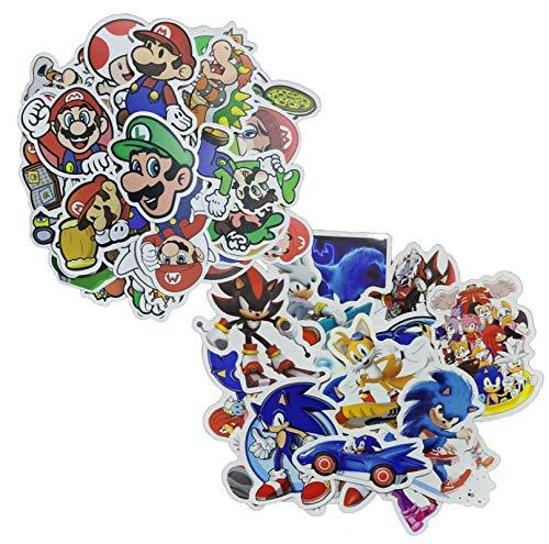Adhesivo Sonic Super Mario 100pcs Super Mario Game Stickers IY Bike Travel Luggage Phone Guitar Laptop Classic Cartoon Pegatinas Diversión para Niños Juguetes Regalo