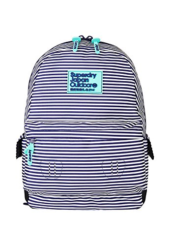 Superdry Print Edition Montana rugzak, dames, blauw (Navy Thin Stripe)