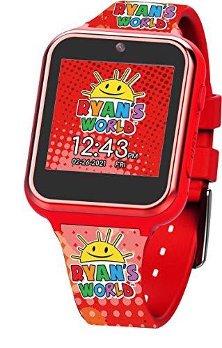 Ryan's World Reloj inteligente con pantalla táctil para niños, Rojo,