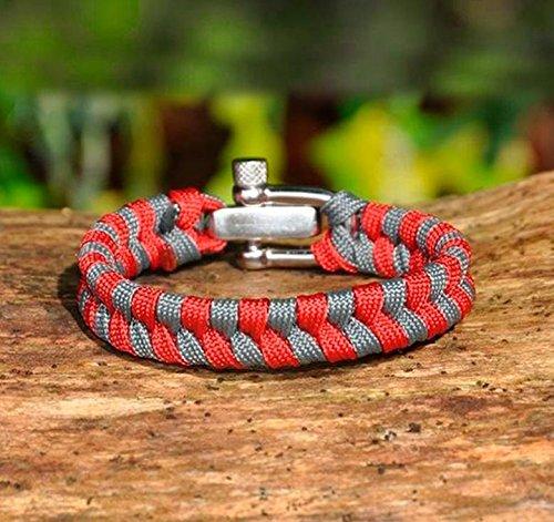 Extérieur de survie bracelet-stainless acier réglage Boucle/U boucle Armée Corde de Parachute, 6