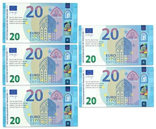 Betzold 756465 - Rechengeld-Ergänzungsset 50 EUR, Satz mit 5 Scheinen