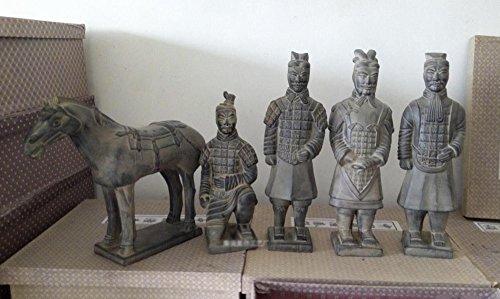GUO 30 Cm Terrakotta Krieger Dekoration Boutique Fünf Stücke Business Geschenke Souvenirs Handwerk Chinesische Eigenschaften Handwerk,EIN,Einheitsgröße