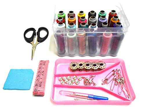 GOELX Sewing kit, Daily Needs Multipurpose Travel Kit with All Accessories, Sewing Threads & Stitching Materials