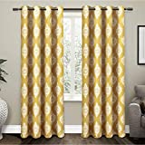 "Exclusive Home Medallion Blackout Thermal Grommet Top Window Curtain Panels - 52"" X"