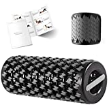Acies Ideal Collapsible Foam Roller for Travel & Exercise - Deep Tissue Foam Roller for Muscles and Back, Compact Travel Massage Roller Tube for Muscles Myofascial Release & Back Pain Relief (Black)