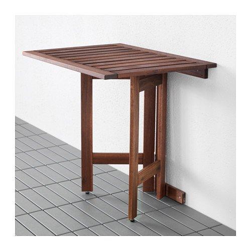 ÄPPLARÖ Robuster Gartentisch aus Akazienholz, braun, gebeizt, 80 x 56 cm
