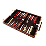 PrimoLiving Backgammon mit Kunstleder Koffer 36 x 27,5 cm -