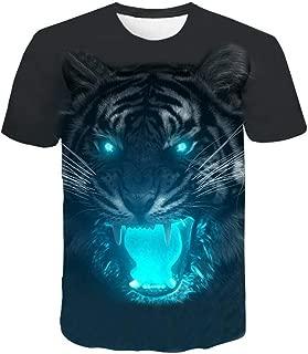 TOPUNDER Mens Short Sleeved T-Shirt 3D Flood Printed Tops Blouse