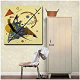 Wassily Kandinsky Arch y Point Wall Art Canvas Painting Posters Impresiones Pintura moderna Cuadro de pared para sala de estar Decoración del hogar -50x50cm Sin marco