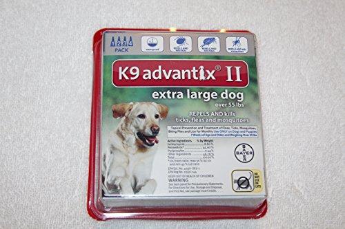 Bayer K9 Advantix II Liquid Dog Flea Drops 0.54 oz.