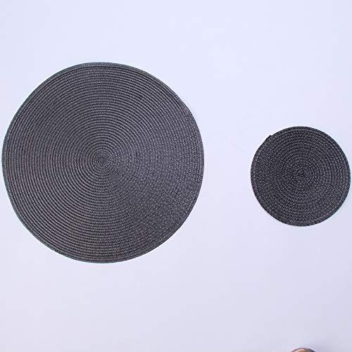KEKEYANG INS Ronda Tejida PP Individuales Impermeable Mesa de Comedor alfombras Antideslizantes Vajilla Tazón de ratón Beba Suministros Taza del Partido de Cocina Posavasos Antideslizante
