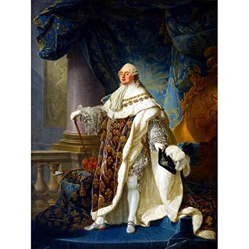 Doppelganger33 LTD Painting Portrait Callet King Louis XVI France Navarre Large Art Print Poster Wall Decor 18x24 inch La Peinture Roi Grand Art Affiche Mur Déco