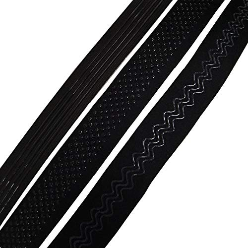 Silicone Elastic Gripper Tape for widely Used-Black (3 Yards)