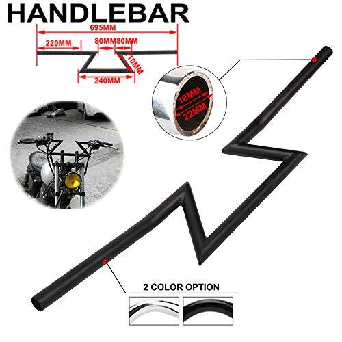 Motorcycle 7/8' inch Drag Handlebar Z Bar Black Universal 22mm Hand Bars For Sportster XL 883 1200 Cruiser Bobber Custom Chopper Softail Dyna Tour Glide Road