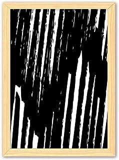 CaoGSH Peinture décorative en bois avec lignes irrégulières A4
