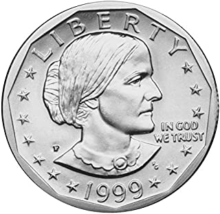 1999 P, D Susan B. Anthony Dollar 2 Coin Set Uncirculated