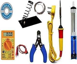 GUNK Soldering iron kit with Multimeter and Desolder pump (7 in 1)