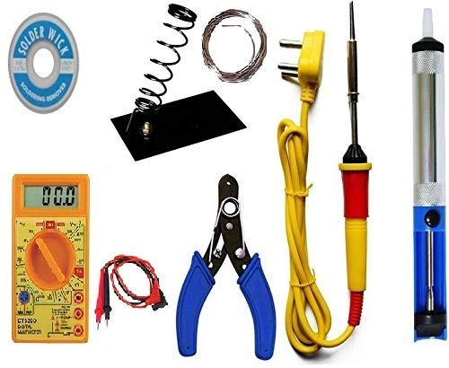 GUNK Soldering iron kit with Multimeter and Desolder pump (7 in 1)