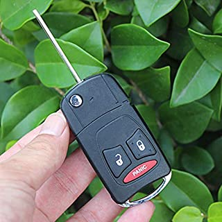 2/2+1/3/3+1 Button Modified flip folding remote key shell for chrysler 300C PT Cruiser For Jeep Compass Wrangler Patriot (...