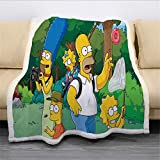 Ruiqieor Kuscheldecken 150x200 cm The Simpsons Dec