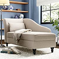 Wood Maker Cleo Chaise Lounge Ottoman with Storage,Divan,Sofa Couch,Sofa Bench for Living Room, Bedroom,...