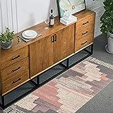 SHACOS 2er Set Teppich Baumwolle Waschbar Gewebt Teppich Vintage Grau Baumwollteppich Flur Teppich für Wohnzimmer Eingang Badezimmer 60x90cm+60x130cm - 5