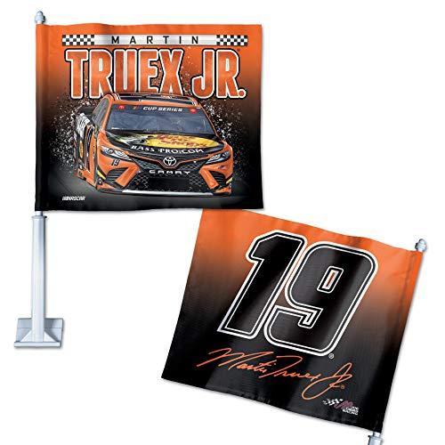 "WinCraft NASCAR Joe Gibbs Racing Martin Truex Jr. NASCAR Martin Truex Jr. #19 11.75"" x 14"" Car Flag, Multi, na"