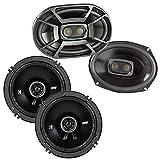 KICKER Polk 6x9 450W 3-Way Marine Speakers 6.5' 240W 2-Way 4-Ohm Car Speakers