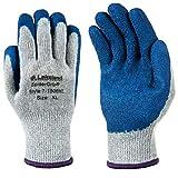 Lakeland Industries, Inc 7-1506XL Lakeland 7-1506 SpiderGrip General Work Glove, X-Large, Grey/Blue (12 Pair)