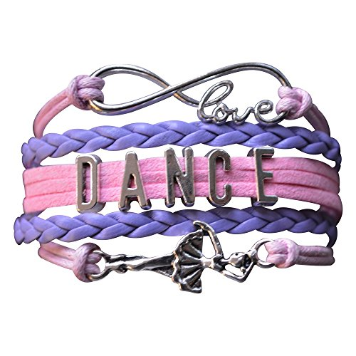 Infinity Collection Dance Bracelet- Dance Jewelry -Ballerina Charm Bracelet for Dance Recitals & Dancers, Dance Moms & Dance Teachers