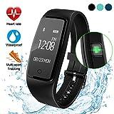 ITSHINY Montre Connectée, Bracelet Connectée Tracker d'activité étanche avec Moniteur de fréquence Cardiaque Moniteur de...
