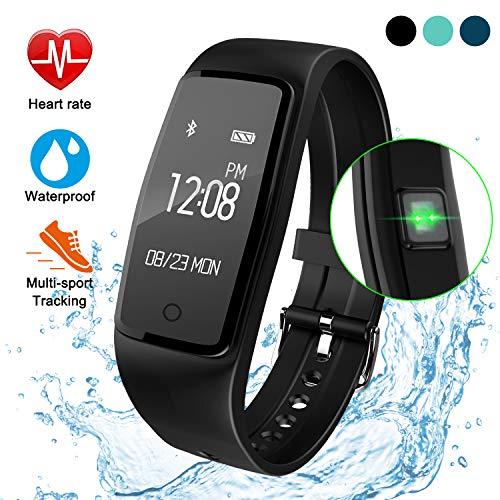 ITSHINY Fitness Tracker mit Pulsmesser, Aktivität Tracker, wasserdicht, sanftes Armband, Smartwatch, Schrittzähler, Kalorienzähler, Schlafmonitor, für Android und IOS geeignet