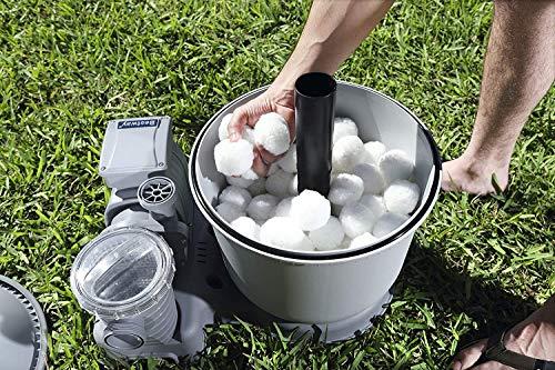 Grunda Pool Filterbälle 200g für Leistung von 7kg Filtersand, Poolreiniger Filterballs für Sandfilteranlagen, geeignet für Pool, schwimmbecken, Filterpumpe & Aquarium
