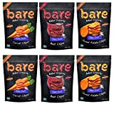 Bare Baked Crunchy Veggie Chips, Variety Pack, Gluten Free, 1.4 Ounce Bag, 6 count