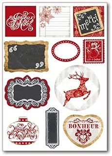 Paper Moon–Italiano hecho plantilla para estarcido (pegatinas para Decoupage, scrapbooking, Card Making X 2hojas–rojo invierno Navidad